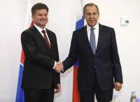 Встреча глав МИД России и Словакии Сергея Лаврова и Мирослава Лайчака