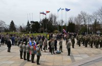 The solemn ceremony at Slavin took place on the day of liberation of Bratislava