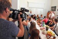 Репортажи о Русском центре на словацком радио и телевидении