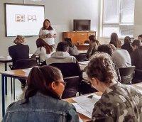 Открытый урок по русскому языку состоялся в гимназии города Врабле